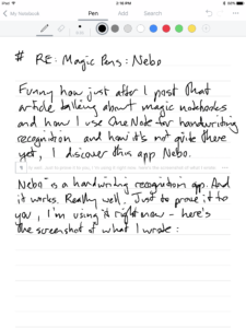 screenshot of my crappy handwriting in the nebo app